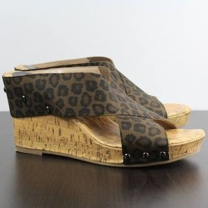 Maurices Rumor Stretch Wedge Leopard Animal Print